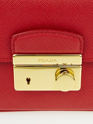 prada white handbag leather - Prada Fuoco Saffiano Lux Leather Mini Crossbody Bag BT0963 ...