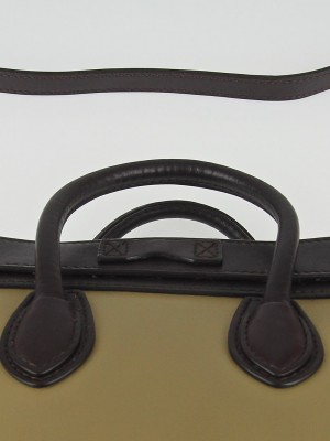 celine tricolor calfskin leather and suede nano luggage bag