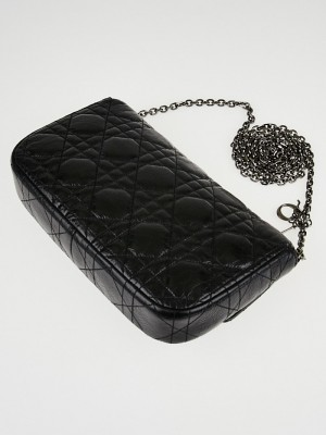 Christian Dior Black Cannage Quilted Calfskin Leather Miss ...