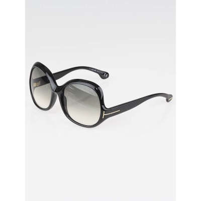 Tom Ford Black Frame Gradient Tint Marcella Sunglasses-TF80