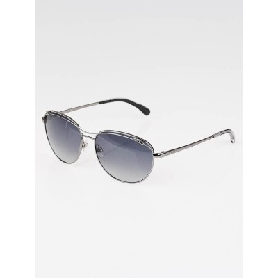 Chanel Silver Frame Gradient Tint Aviator Sunglasses-4188