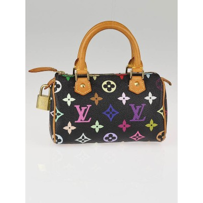 Louis Vuitton Black Monogram Multicolor Mini HL Bag
