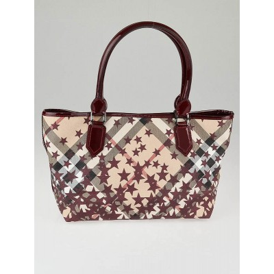 Burberry Berry Nova Stars Printed Coated Canvas Tote Bag