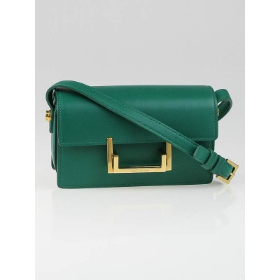 Saint Laurent Green Leather Small Lulu Bag