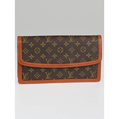 Louis Vuitton Vintage Monogram Canvas Pochette Dame GM Clutch Bag