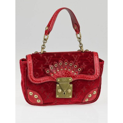Louis Vuitton Limited Edition Rouge Velours Alligator Irvine Bag