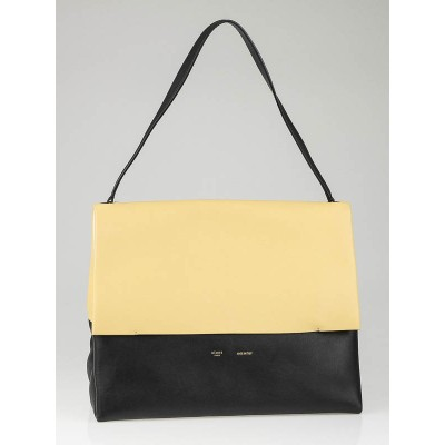 Celine Yellow/Black Smooth Calfskin Leather All Soft Tote Bag