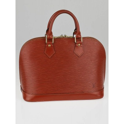 Louis Vuitton Fawn Epi Leather Alma Bag