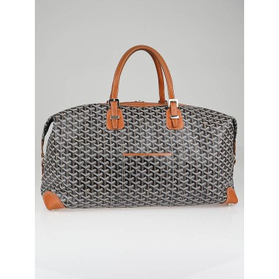 Goyard Black Chevron Print Coated Canvas Boeing 55 Travel Bag