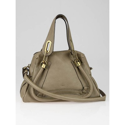 Chloe Griege Calfskin Leather Small Paraty Bag