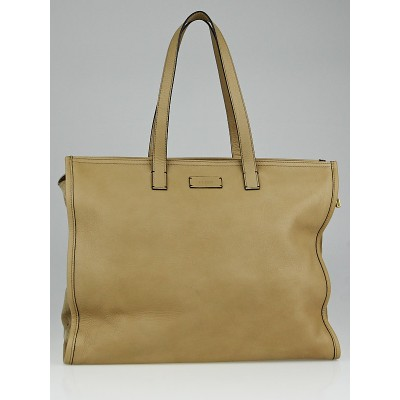 Fendi Camel Leather and Perforated Suede Shopping Tote Bag 8BH244