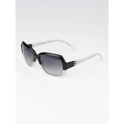 Chanel Black/White Square Frame CC Logo Sunglasses-5177