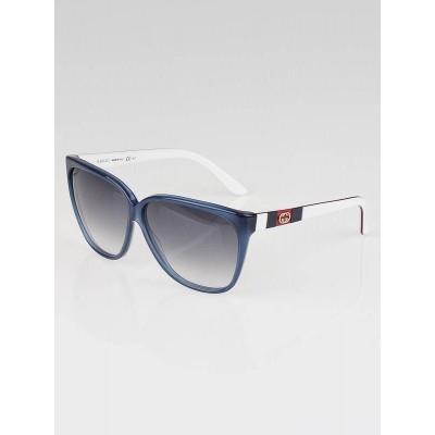 Gucci Blue/White Frame Vintage Web GG Sunglasses-3539/S