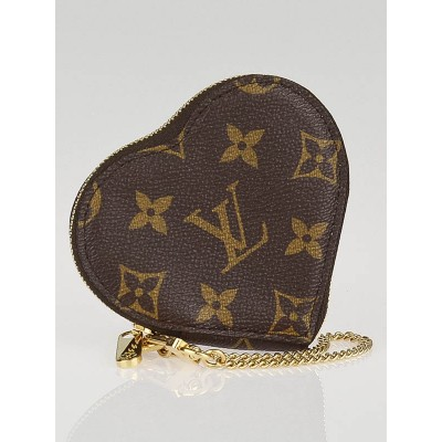 Louis Vuitton Limited Edition Monogram Canvas Leopard Heart Coin Purse
