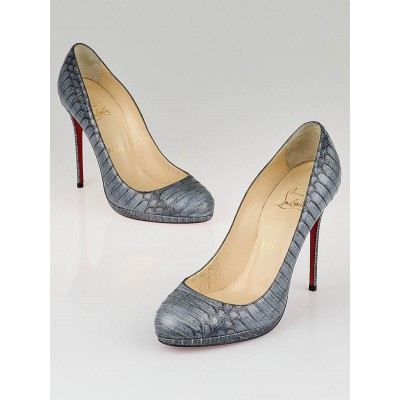 Christian Louboutin Navy Cobra Degrade Filo 120 Pumps Size 8/38.5