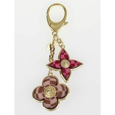 Louis Vuitton Pink Mosaique Key Holder and Bag Charm