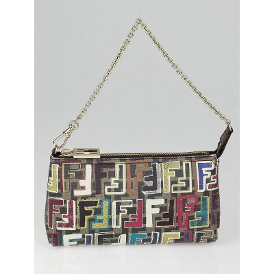 Fendi Multicolor Zucca Print Coated Canvas Accessories Pochette Bag