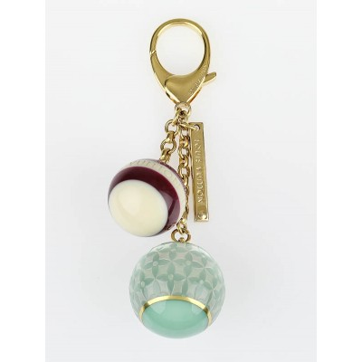 Louis Vuitton Blue/Purple Resin Monogram Mini Lin Key Holder and Bag Charm