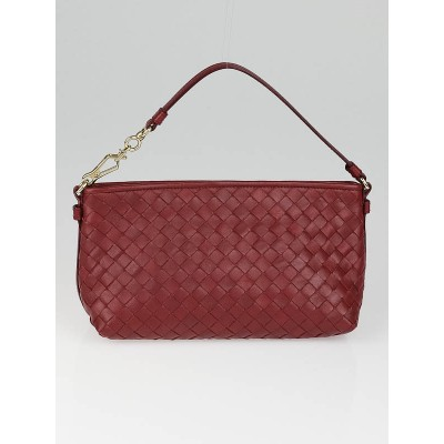 Bottega Veneta Eclipse Intrecciato Woven Leather Pochette Bag