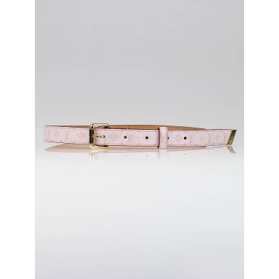 Louis Vuitton Pink Monogram Canvas Belt Size 70/28
