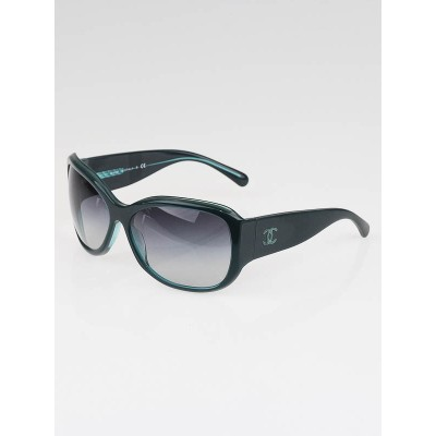 Chanel Dark Green Frame Gradient Tint CC Logo Sunglasses-5226-H