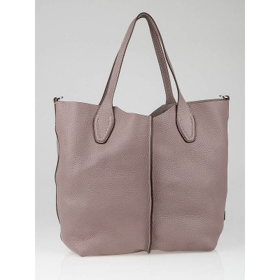 Tod's Light Purple Leather Ale Media Shopper Tote Bag