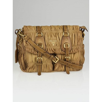Prada Naturale Cervo Leather Gaufre Messenger Bag BT0636