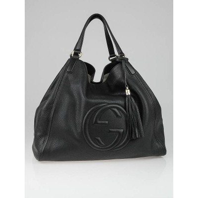 Gucci Black Leather Soho Large Tote Bag