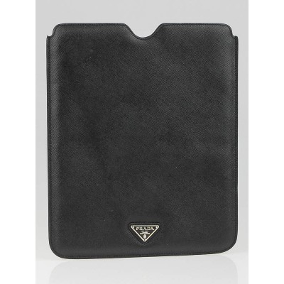 Prada Black Saffiano Leather Tablet Cover 2ARD64