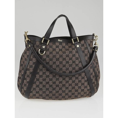 Gucci Brown GG Canvas Abbey Convertible Hobo Bag