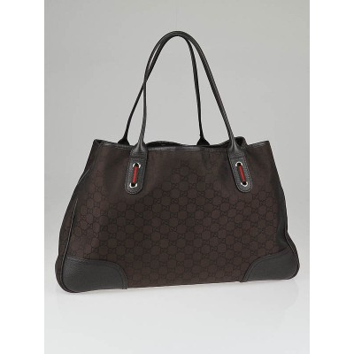 Gucci Brown GG Canvas Large Princy Tote Bag