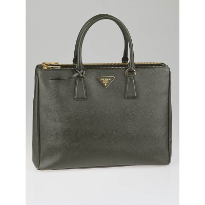 Prada Militare Saffiano Lux Leather Double Zip Large Tote Bag BN1786