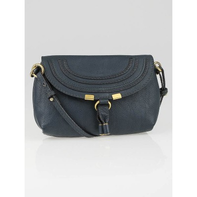Chloe Dark Teal Leather Marcie Mini Crossbody Bag