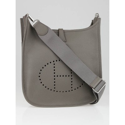 Hermes Etain Clemence Leather Evelyne III PM Bag