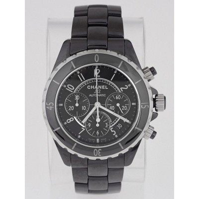 Chanel Black J12 Ceramic 41mm Automatic Chronograph Watch