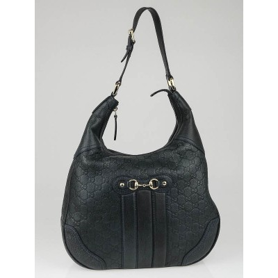 Gucci Blue Guccissima Leather Catherine Hobo Bag