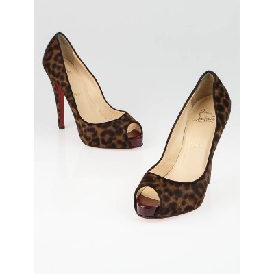 Christian Louboutin Animal Print Pony Hair No Prive Pumps Size 7/37.5