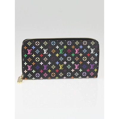 Louis Vuitton Black Monogram Multicolor Grenade Zippy Wallet