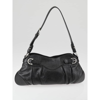 Salvatore Ferragamo Black Leather Small Marisa Shoulder Bag