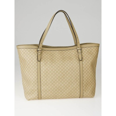 Gucci Beige Micro Guccissima Leather Nice Tote Bag