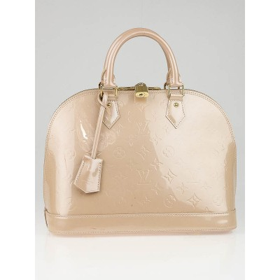 Louis Vuitton Rose Florentin Monogram Vernis Alma PM Bag
