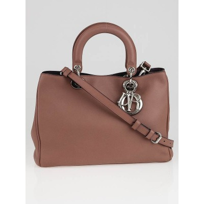 Christian Dior Petale Smooth Calfskin Leather Small Diorissimo Bag
