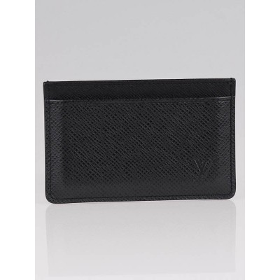 Louis Vuitton Ardoise Taiga Leather Card Holder Wallet