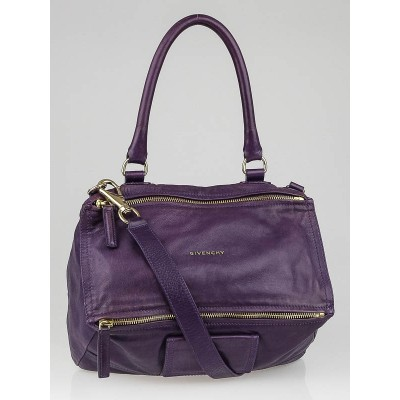 Givenchy Dark Violet Calf Leather Medium Pandora Bag