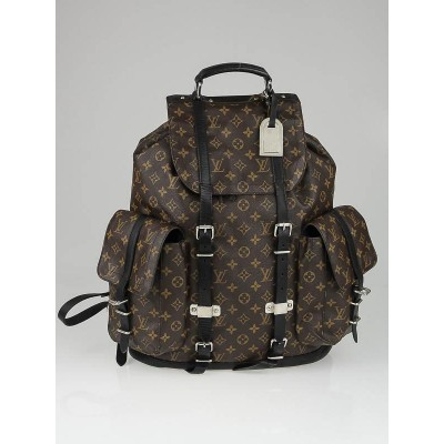 Louis Vuitton Monogram Macassar Canvas Christopher Backpack Bag