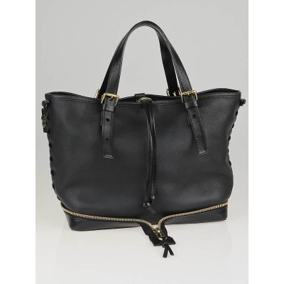 Chloe Black leather Ellen Moyen Tote Bag