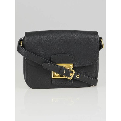 Miu Miu Black Leather Madras Shoulder Bag