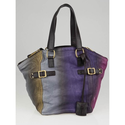 Yves Saint Laurent Pink/Purple/Grey Ombre Small Downtown Tote Bag