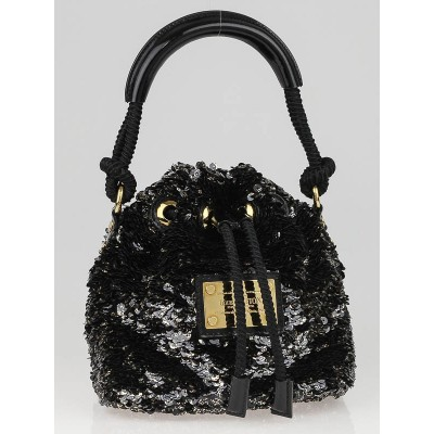 Louis Vuitton Limited Edition Black Mini Noe Rococo Bag