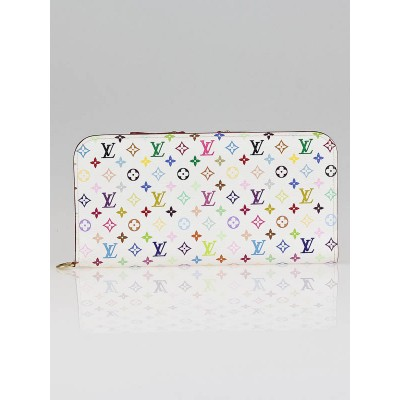 Louis Vuitton White Monogram Multicolore Insolite Wallet